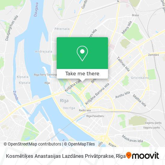 Kosmētiķes Anastasijas Lazdānes Privātprakse map