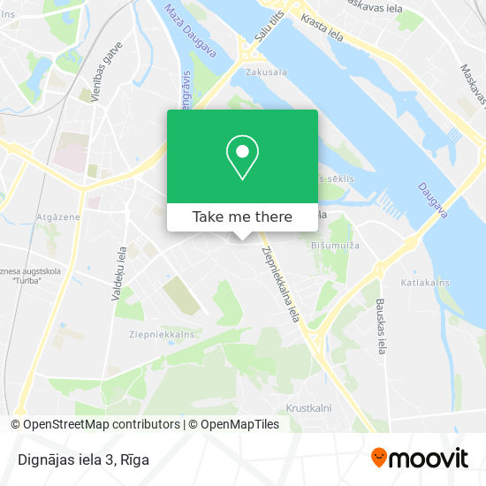 Dignājas iela 3 map