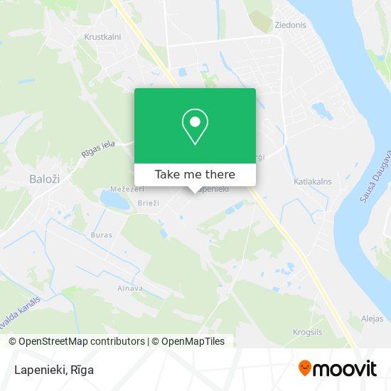Lapenieki map
