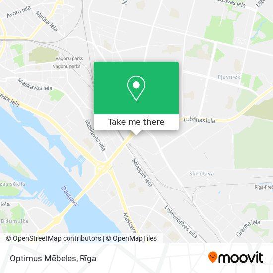 Optimus Mēbeles map