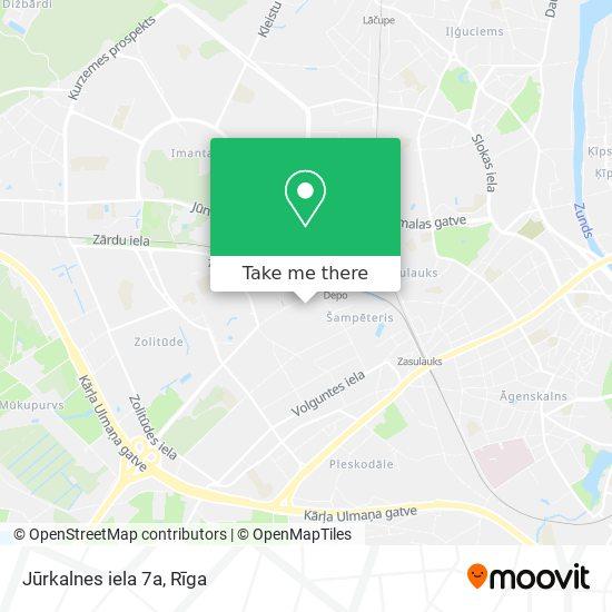 Jūrkalnes iela 7a map