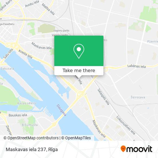 Maskavas iela 237 map