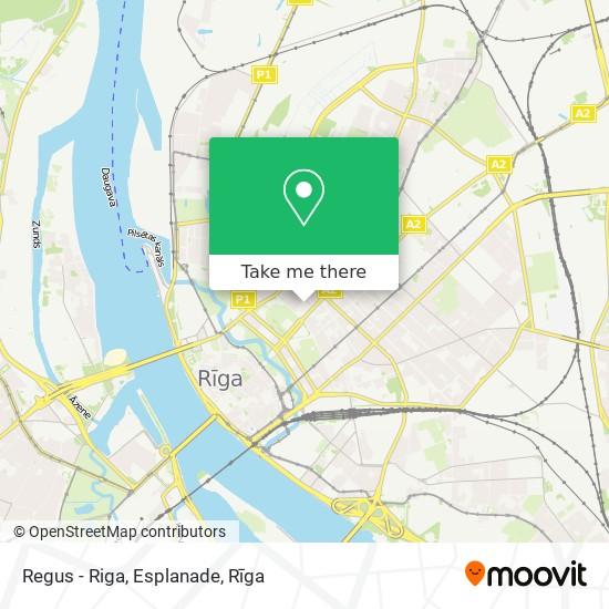 Regus - Riga, Esplanade map