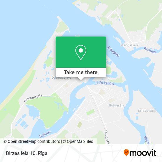 Birzes iela 10 map