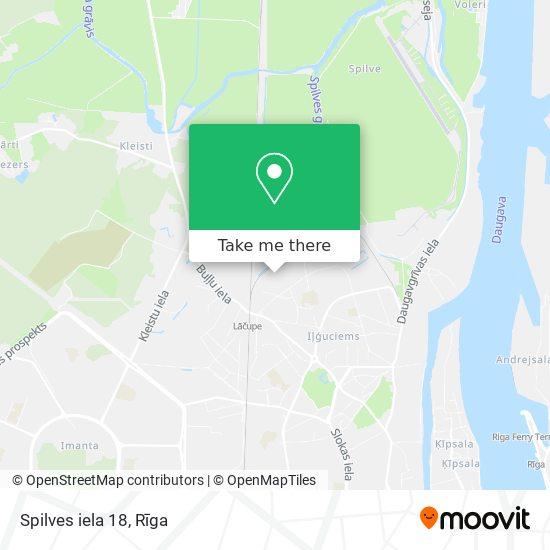 Spilves iela 18 map
