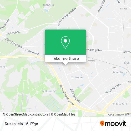 Ruses iela 16 map