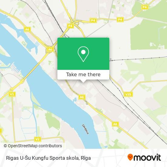 Rigas U-Šu Kungfu Sporta skola map