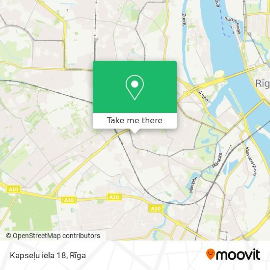 Kapseļu iela 18 map