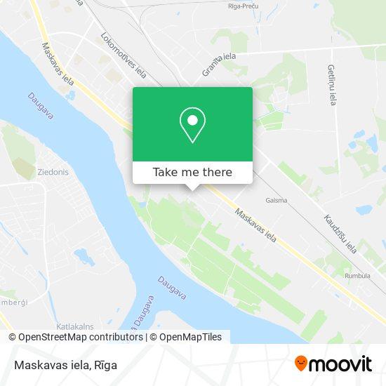 Maskavas iela map