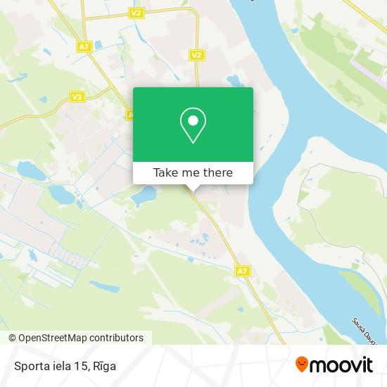 Sporta iela 15 map