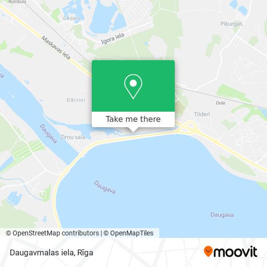 Daugavmalas iela map