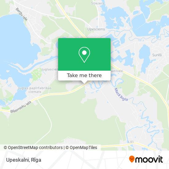 Upeskalni map