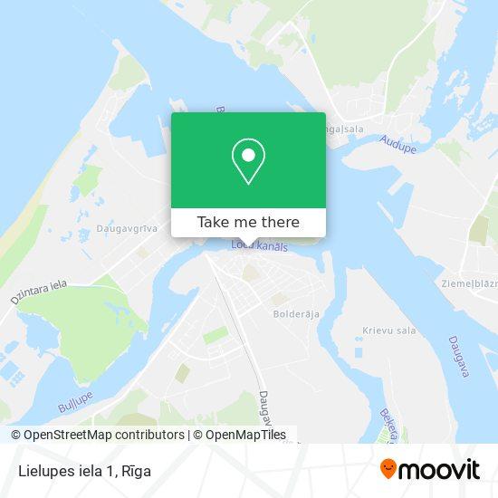 Lielupes iela 1 map