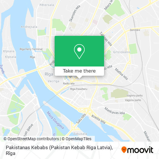 Pakistanas Kebabs (Pakistan Kebab Riga Latvia) map