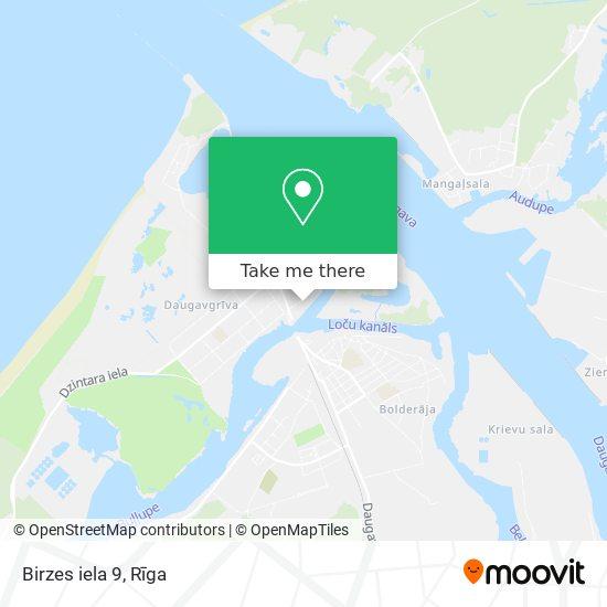 Birzes iela 9 map