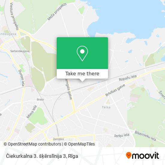 Čiekurkalna 3. šķērslīnija 3 map
