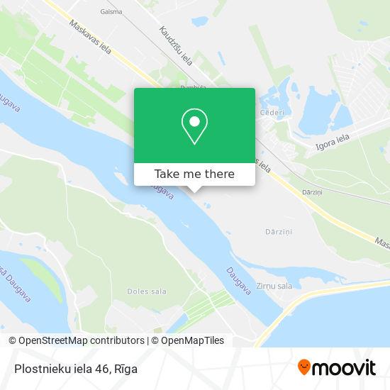 Plostnieku iela 46 map