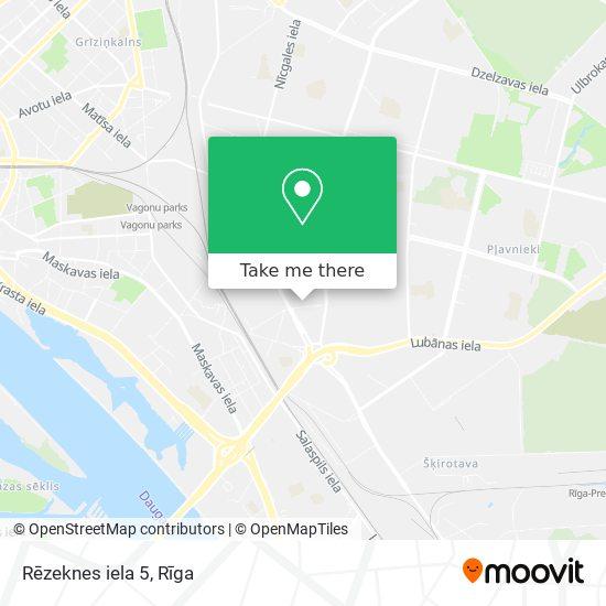 Rēzeknes iela 5 map
