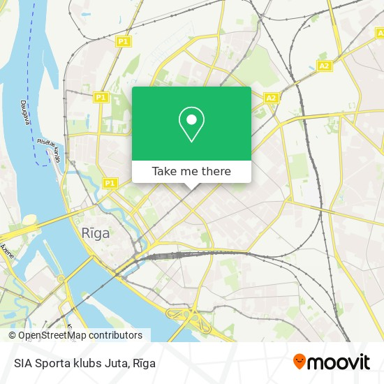 SIA Sporta klubs Juta map