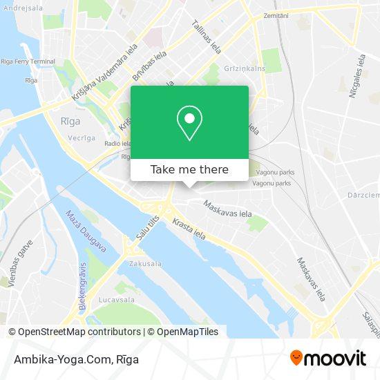Ambika-Yoga.Com map