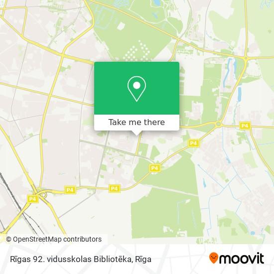 Rīgas 92. vidusskolas Bibliotēka map