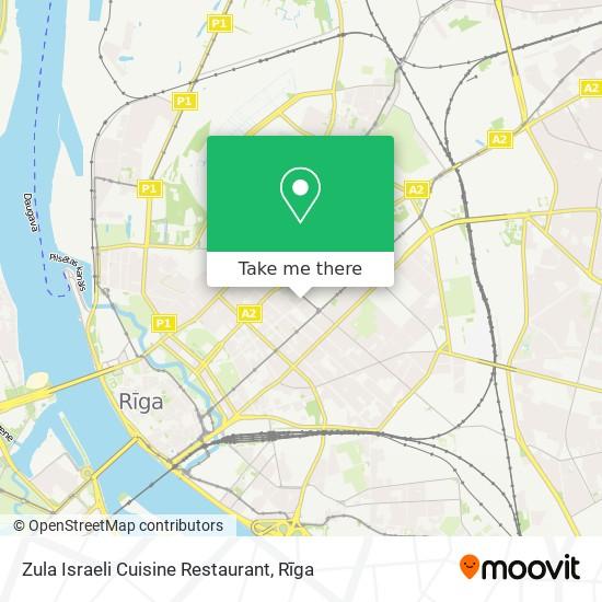 Zula Israeli Cuisine Restaurant map