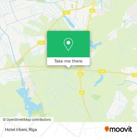 Hotel Irbeni map
