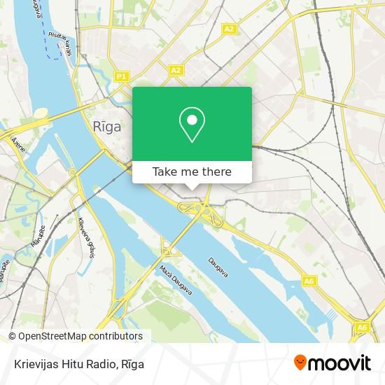 Krievijas Hitu Radio map
