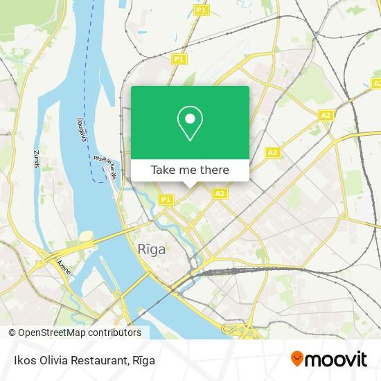 Ikos Olivia Restaurant map