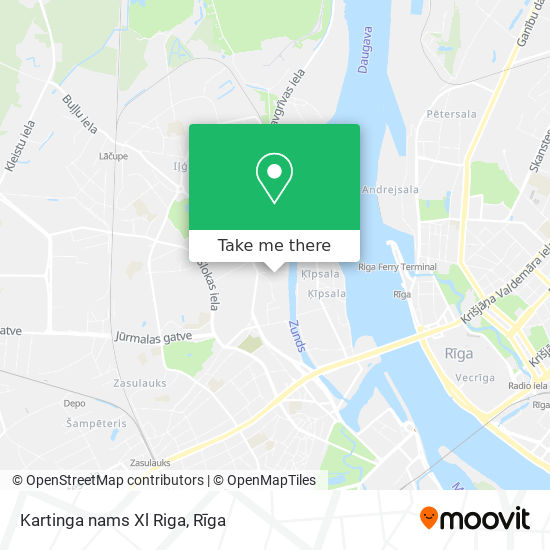 Kartinga nams Xl Riga map