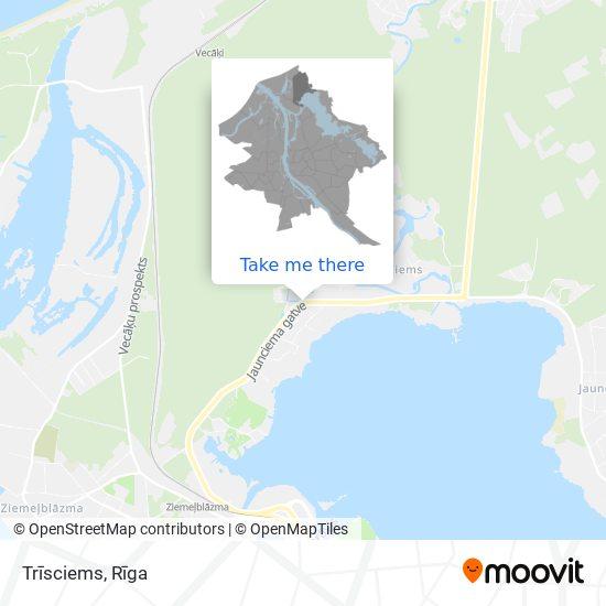 Trīsciems map