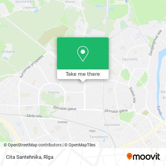 Cita Santehnika map