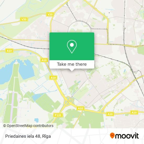 Priedaines iela 48 map