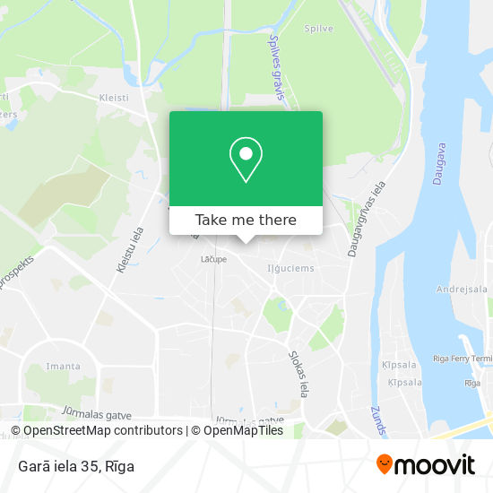 Garā iela 35 map