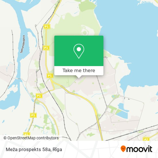 Meža prospekts 58a map