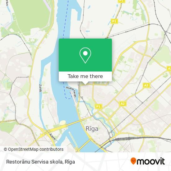 Restorānu Servisa skola map