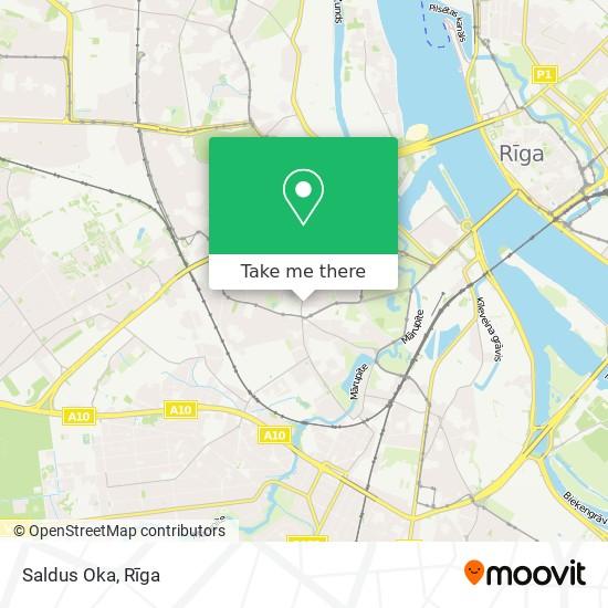 Saldus Oka map
