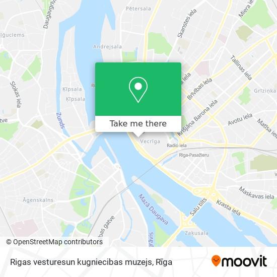 Rigas vesturesun kugniecibas muzejs map