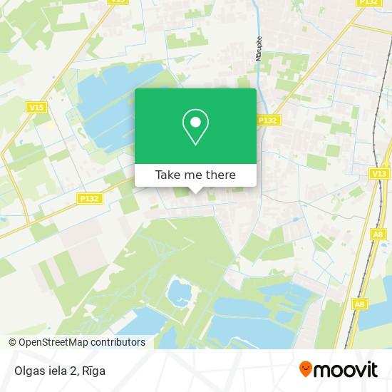 Olgas iela 2 map