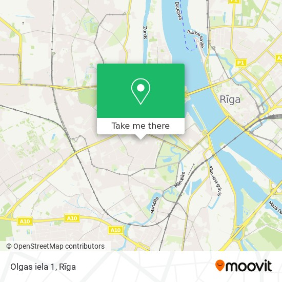 Olgas iela 1 map