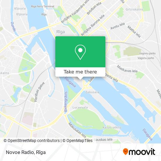 Novoe Radio map
