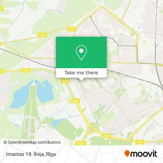 Imantas 18. līnija map
