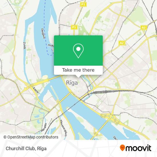 Churchill Club map