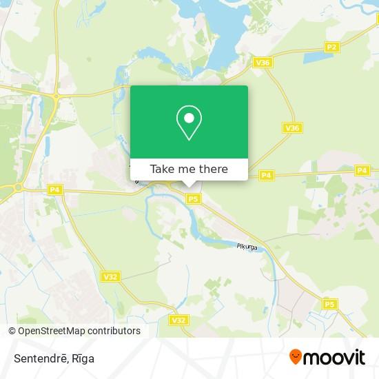 Sentendrē map