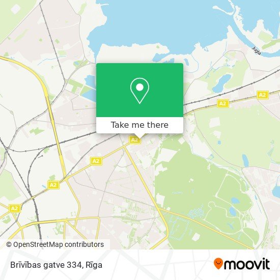 Brīvības gatve 334 map