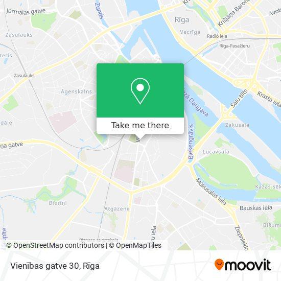 Vienības gatve 30 map