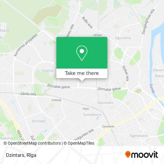 Dzintars map