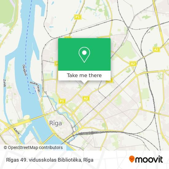 Rīgas 49. vidusskolas Bibliotēka map