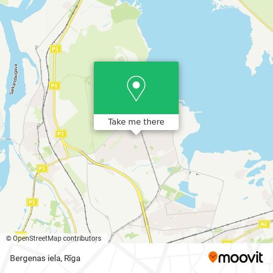Bergenas iela map