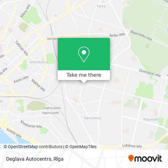 Deglava Autocentrs map